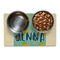 Pineapples and Coconuts Pet Bowl Mat (Personalized)