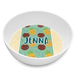Pineapples and Coconuts Melamine Bowl 8oz (Personalized)