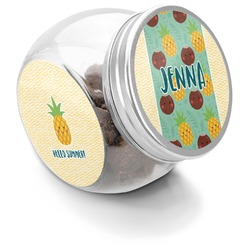 Pineapples and Coconuts Puppy Treat Jar (Personalized)