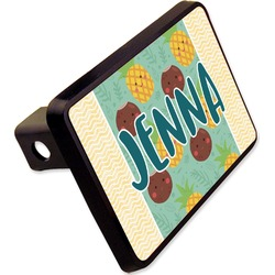 "Pineapples and Coconuts Rectangular Trailer Hitch Cover - 2"" (Personalized)"