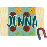 Pineapples and Coconuts Rectangular Fridge Magnet (Personalized)