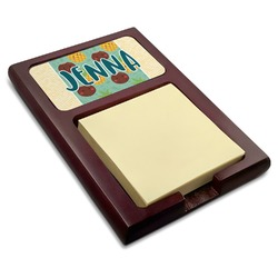 Pineapples and Coconuts Red Mahogany Sticky Note Holder (Personalized)
