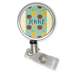 Pineapples and Coconuts Retractable Badge Reel (Personalized)