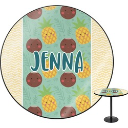 Pineapples and Coconuts Round Table (Personalized)
