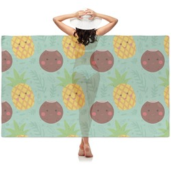 Pineapples and Coconuts Sheer Sarong (Personalized)
