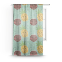 Pineapples and Coconuts Sheer Curtains (Personalized)