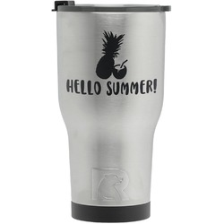 Pineapples and Coconuts RTIC Tumbler - Silver (Personalized)