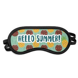 Pineapples and Coconuts Sleeping Eye Mask (Personalized)