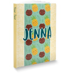 Pineapples and Coconuts Softbound Notebook (Personalized)
