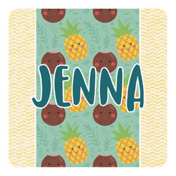 Pineapples and Coconuts Square Decal (Personalized)