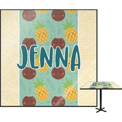 Pineapples and Coconuts Square Table Top (Personalized)