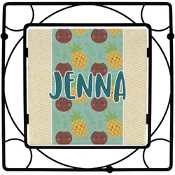 Pineapples and Coconuts Square Trivet (Personalized)