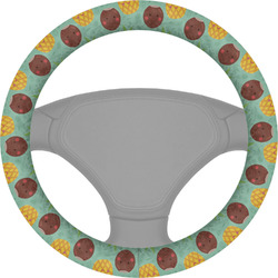Pineapples and Coconuts Steering Wheel Cover (Personalized)