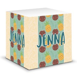 Pineapples and Coconuts Sticky Note Cube (Personalized)