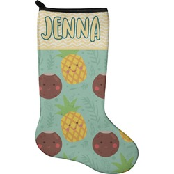 Pineapples and Coconuts Christmas Stocking - Neoprene (Personalized)