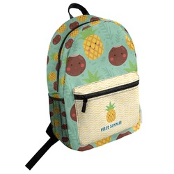 Pineapples and Coconuts Student Backpack (Personalized)