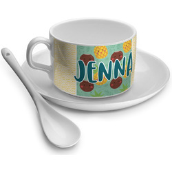 Pineapples and Coconuts Tea Cups (Personalized)