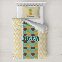 Pineapples and Coconuts Toddler Bedding w/ Name or Text
