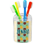 Pineapples and Coconuts Toothbrush Holder (Personalized)