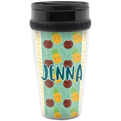Pineapples and Coconuts Travel Mugs (Personalized)
