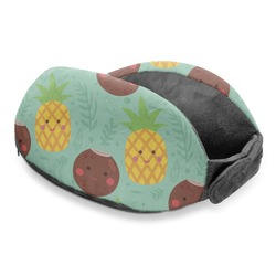 Pineapples and Coconuts Travel Neck Pillow (Personalized)