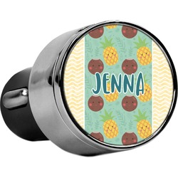 Pineapples and Coconuts USB Car Charger (Personalized)