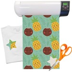 "Pineapples and Coconuts Heat Transfer Vinyl Sheet (12""x18"")"