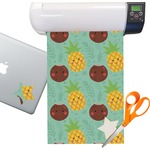 Pineapples and Coconuts Sticker Vinyl Sheet (Permanent)