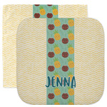 Pineapples and Coconuts Facecloth / Wash Cloth (Personalized)