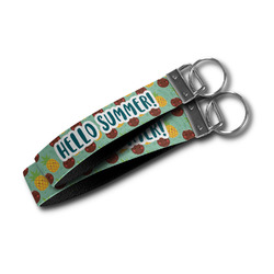 Pineapples and Coconuts Wristlet Webbing Keychain Fob (Personalized)