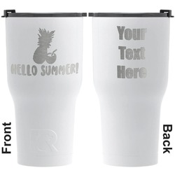 Pineapples and Coconuts RTIC Tumbler - White - Engraved Front & Back (Personalized)