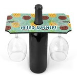 Pineapples and Coconuts Wine Bottle & Glass Holder (Personalized)
