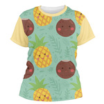 Pineapples and Coconuts Women's Crew T-Shirt (Personalized)