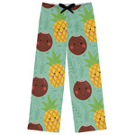 Pineapples and Coconuts Womens Pajama Pants (Personalized)