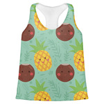 Pineapples and Coconuts Womens Racerback Tank Top (Personalized)