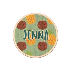 Pineapples and Coconuts Genuine Maple or Cherry Wood Sticker (Personalized)
