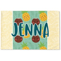 Pineapples and Coconuts Woven Mat (Personalized)