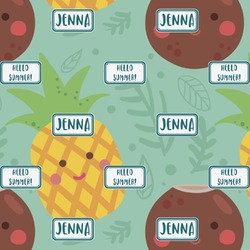 Pineapples and Coconuts Wrapping Paper (Personalized)
