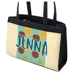 Pineapples and Coconuts Zippered Everyday Tote (Personalized)