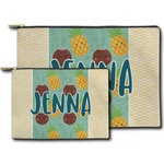 Pineapples and Coconuts Zipper Pouch (Personalized)