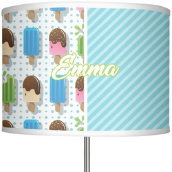 "Popsicles and Polka Dots 13"" Drum Lamp Shade (Personalized)"