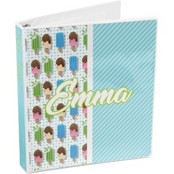 Popsicles and Polka Dots 3-Ring Binder (Personalized)