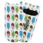 Popsicles and Polka Dots Adult Ankle Socks (Personalized)