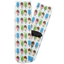 Popsicles and Polka Dots Adult Crew Socks (Personalized)
