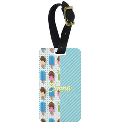 Popsicles and Polka Dots Aluminum Luggage Tag (Personalized)