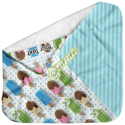 Popsicles and Polka Dots Baby Hooded Towel (Personalized)