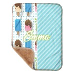 "Popsicles and Polka Dots Sherpa Baby Blanket 30"" x 40"" (Personalized)"