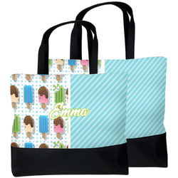 Popsicles and Polka Dots Beach Tote Bag (Personalized)