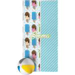 Popsicles and Polka Dots Beach Towel (Personalized)