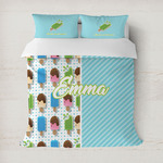 Popsicles and Polka Dots Duvet Cover (Personalized)